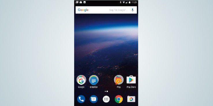 Nach der Installation von Android 8 heißt Sie das Betriebssystem mit einem neuen Hintergrundbild willkommen.