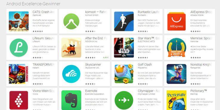 Android Excellence-Gewinner: Google empfiehlt diese Android-Apps