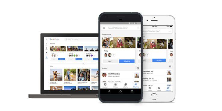 Suggested Sharing und Shared Libraries für Google Photos.