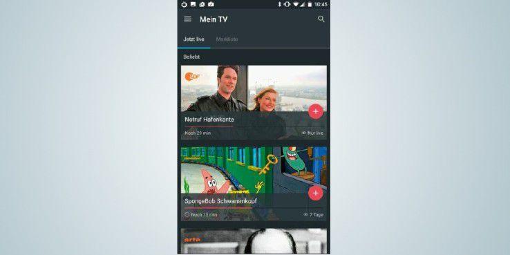 """Mit der """"Magine TV""""-App können Sie diverse öffentlichrechtliche Fernsehsender in SD-Qualität streamen."""