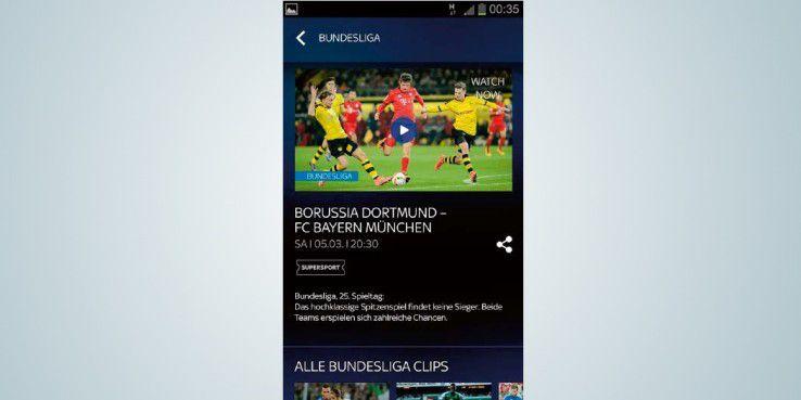 """Mit der """"Sky Ticket""""-App verpassen Sie nie mehr den Sportevent Ihrer Wahl."""