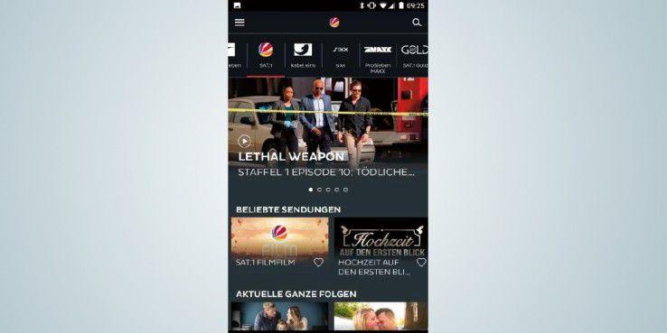 """In der """"7TV""""-App können Sie auf ausgewählte Inhalte von Sendern wie Prosieben, Sat.1, Kabel 1 oder Sixx zugreifen."""