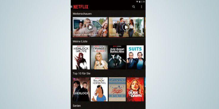 """In der """"Netflix""""-App können Sie eine Liste mit Serien und Filmen erstellen, die Sie in der Zukunft anschauen wollen."""