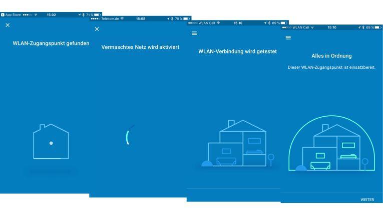 Einrichten per App: Nach Anmeldung mit dem Google-Konto kurz und schmerzlos