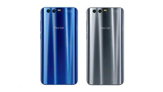 Das Honor 9 gibt es in den beiden Farben Blau und Grau - beide sehr schick!