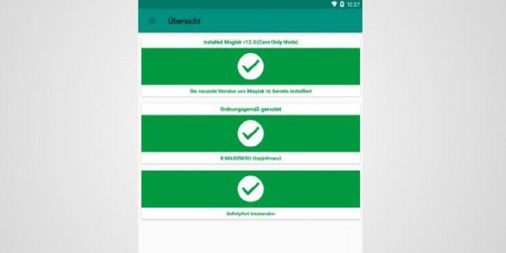 Haben Sie auch die Prüfung des Safetynet-Status überlistet, müssen Sie nur noch den Root-Zustand vor den entsprechenden Apps verstecken.