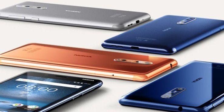 DAs Nokia 8 gibt es in verschiedenen Farben.