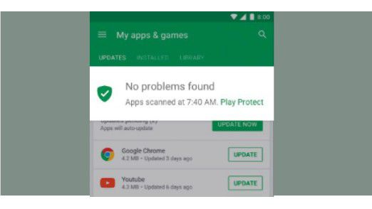 Eine neue Funktion in der Play-Store-App von Google scannt Updates zu Programmen auf schädlichen Code.