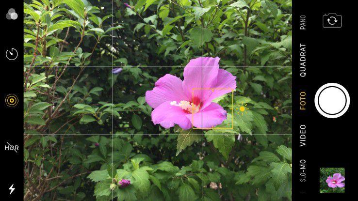 Mit einem Wisch können Sie die Kamera-App aus dem Sperrbildschirm aufrufen.