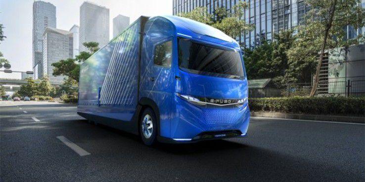 Der E-Fuso Vision One hat eine Reichweite von 350 Kilometern.