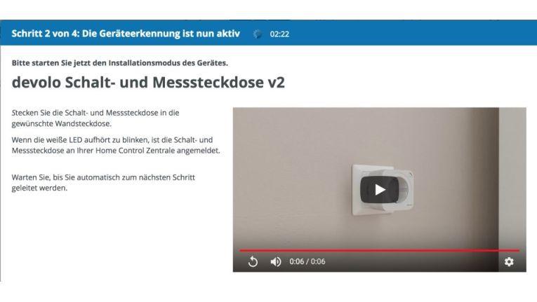 Kurze Videos erklären die ordnungsgemäße Installation der Geräte.