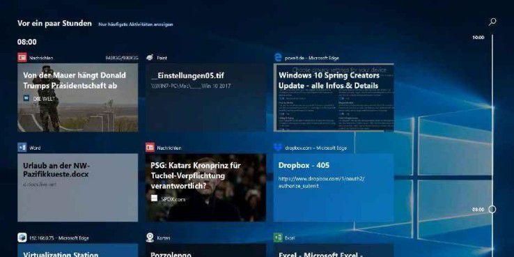 Backup & Datenschutz: Windows-10-Timeline: Die neue Funktion im ...