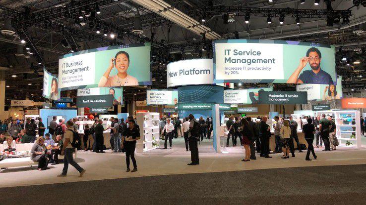 Showfloor auf der Knowledge18: Das Thema IT-Service-Management ist nur noch eines von vielen.