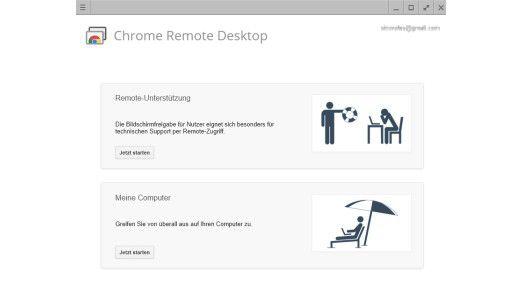 Mit einer Erweiterung kann Google Chrome auch zur Fernwartung genutzt werden.