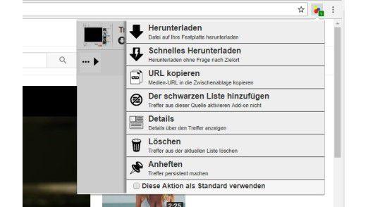 Mit geeigneten Browser-Erweiterungen lassen sich Videos auf Webportalen sehr einfach herunterladen.