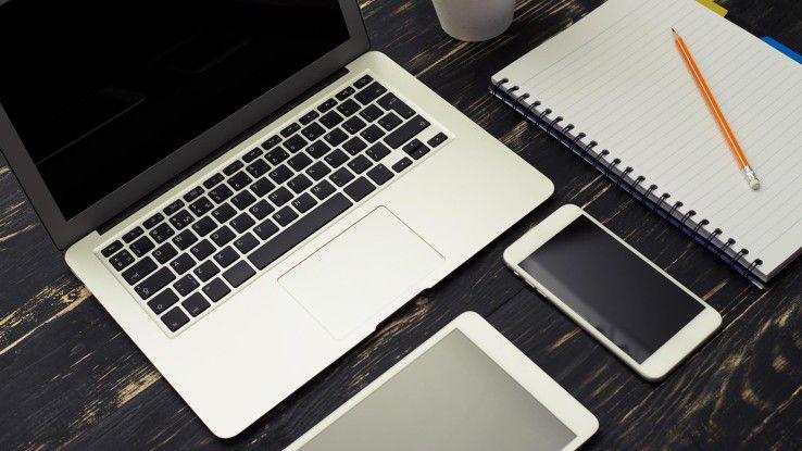 Mit Unified Endpoint Management lassen sich Smartphones, Tablets, Laptops etc. über eine Oberfläche verwalten.