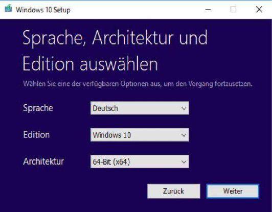 Das Media Creation Tool von Microsoft aktualisiert Rechner mit Windows 10.
