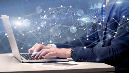 Anwender können sich im Graphen von Knoten zu Knoten fortbewegen und das Hierarchienetzwerk schnell traversieren. So lassen sich für jeden Mitarbeiter Sparten, Standorte und Positionen rasch abfragen.