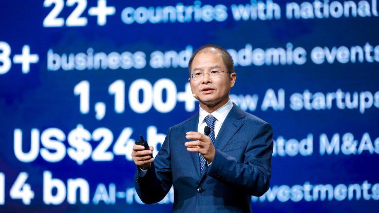 Eric Xu, Rotating CEO von Huawei, erklärt die KI-Strategie von Huawei.