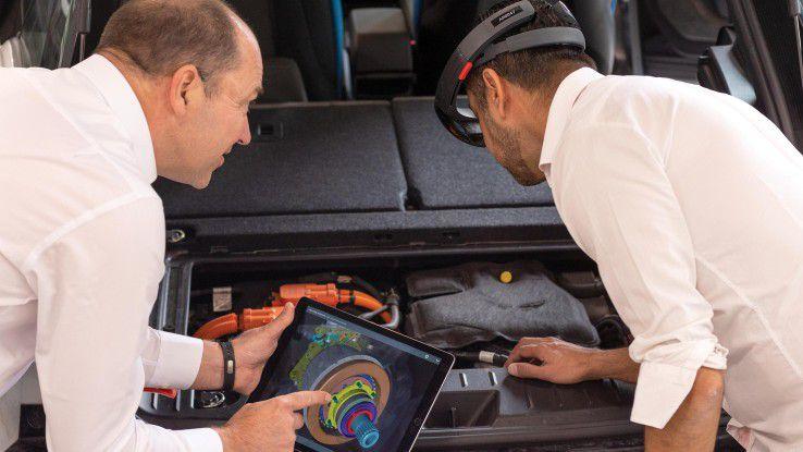 Um KFZ-Mechatronikern einen detaillierten Einblick in Aufbau und Funktionen der Hochvolt-Komponenten von Elektro- und Hybrid-Fahrzeugen zu geben, setzt Bosch künftig auf AR.
