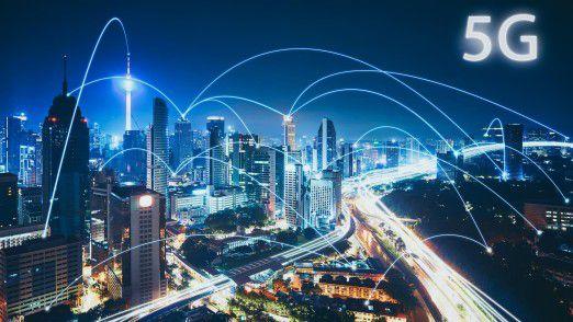 Ein gut ausgebautes 5G-Netz ist die Voraussetzung für zahlreiche innovative Dienste und Anwendungen, z. B. im Smart-City-Umfeld