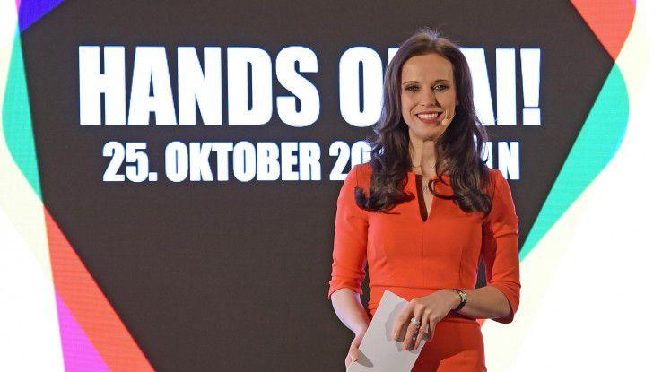 Susanne Schöne führte die Teilnehmer durch das Programm von Hands on AI.