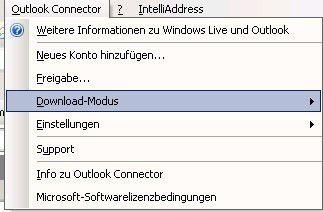 Office Outlook Connector konfigurieren