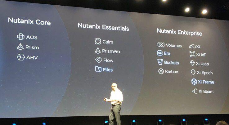Umfangreiches Portfolio: Nutanix-CEO Dheeraj Pandey zeigt die Lösungen seines Unternehmens für die drei Etappen der Reise in die hybride Cloud-Welt.