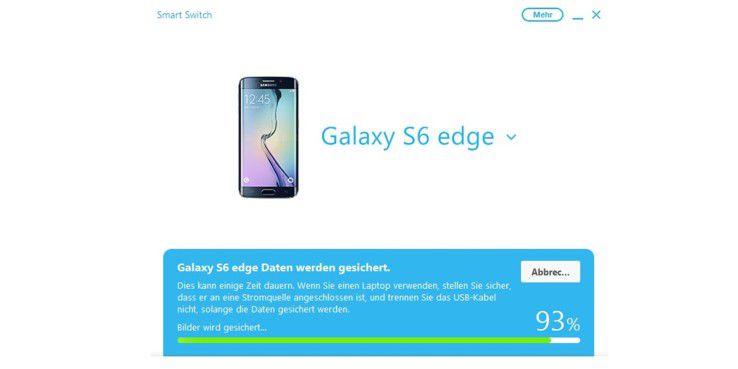 Samsung Smart Switch sichert Ihre Daten ohne Probleme und stellt sogar Sicherungen von einem iPhone auf dem Androiden wieder her.