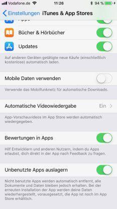 Das Auslagern der App kann man auch über eine eigene Systemeinstellung ein- und ausschalten.