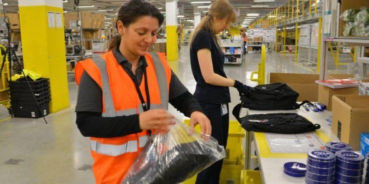 Amazon patentiert Überwachungsarmbänder für Mitarbeiter