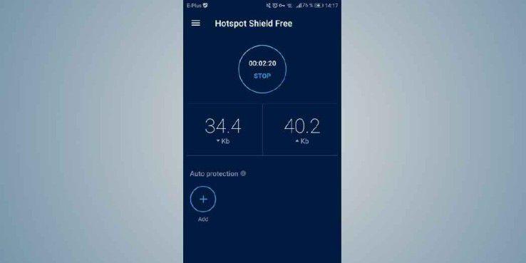 """Mit """"Free VPN – Hotspot Shield Basic"""" surfen Sie auch in öffentlichen Hotspots anonym im Internet."""