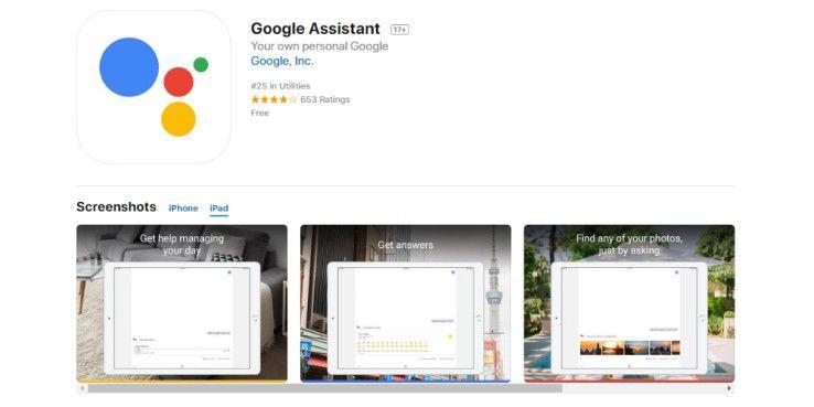 Google Assistant für iPad