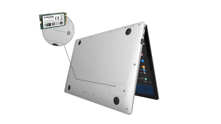 In den zugänglichen M.2-Schacht lässt sich eine passende SSD einsetzen.