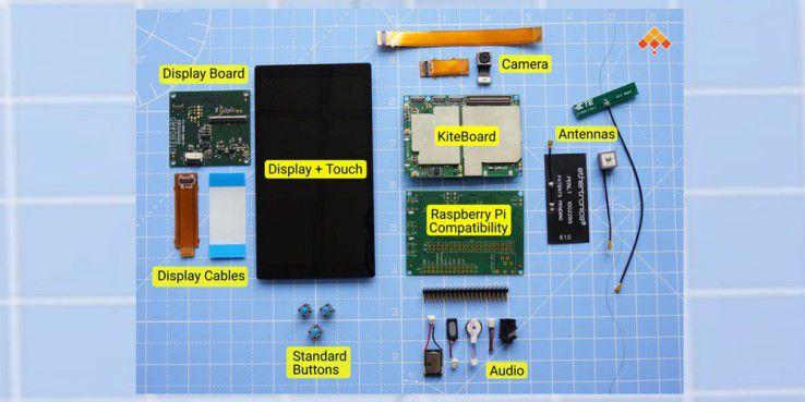 Im Bausatz befinden sich alle Bestandteile des eigenen Smartphones.