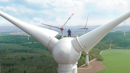 Der Windpark Kirchberg: Die EVO AG betreibt zurzeit 39 Windräder im Hunsrück, in Rheinhessen, in Nordhessen und im Vogelsberg.