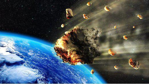 Per Definition haben Asteroiden einen Durchmesser von mindestens einem Meter, kleinere Gesteinsbrocken heißen Meteoroide.