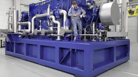 Planetengetriebe von Voith regeln die Drehzahl von Pumpen, Kompressoren und Gebläsen.