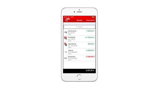 Die Sparkasse in der App: Kontenverwaltung auf dem Smartphone.