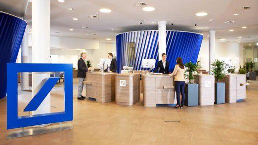 """Die Deutsche Bank arbeitet beim Zugangskanal """"BluePort"""" mit Startups zusammen."""