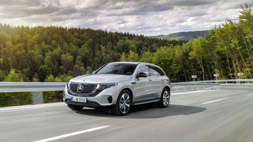 Der Mercedes-Benz EQC hat eine elektrische Reichweite nach NEFZ von über 450 km.