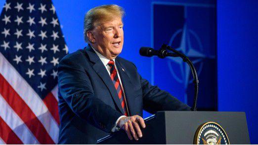 """US-Präsident Donald Trump spricht von """"Verrat""""."""