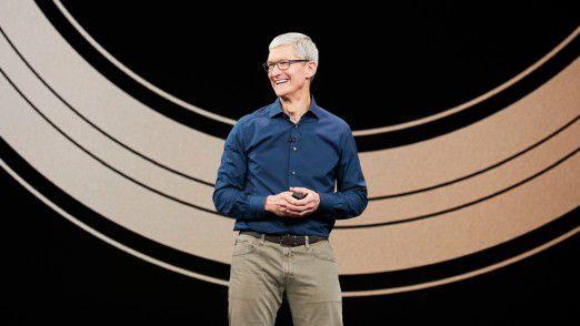 Tim Cook eröffnet das September 2018-Event von Apple.
