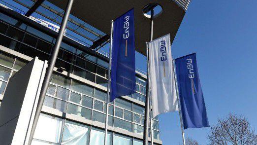Bild der Zentrale des Energieunternehmens EnBW in Karlsruhe, die von Apleona betreut wird.