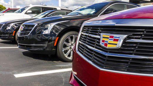 Zu GM gehört unter anderem die Marke Cadillac. Der Glanz alter Zeiten ist längst verflogen.