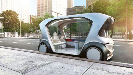 Neue Mobilität dank fahrerlosen Shuttles von Bosch.