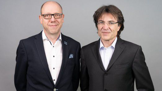 Michael Brand (l.) und Thomas Wolf bilden die Doppelspitze der BayDit AG.