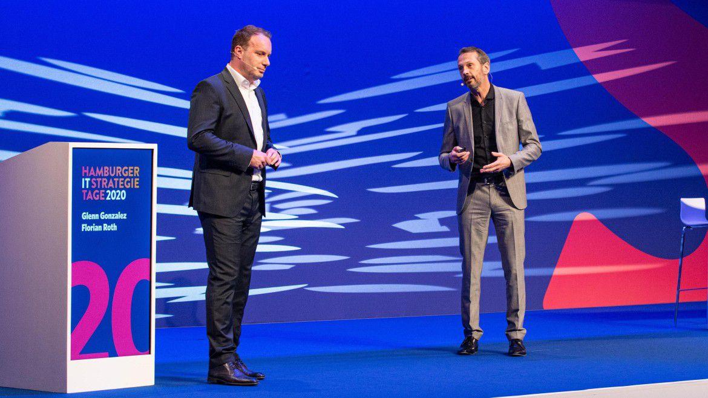 SAP SE CIO Florian Roth (links) und SAP Deutschland CTO Glenn González auf den Hamburger IT-Strategietagen.