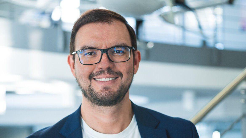 Alexander Oelling, CDO von Volocopter, sprach auf den Hamburer IT-Strategietagen.