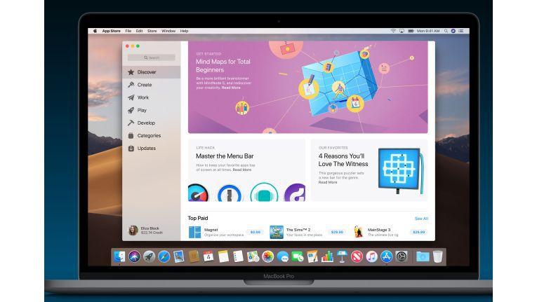 Der App Store bekommt eine Rundernerung und sieht in Mojave sehr dem iOS Gegenstück ähnlich.